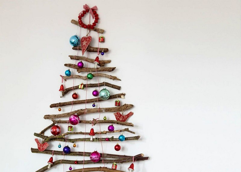 Craft a Festive and Fragrant Christmas Twig Tree from Nature